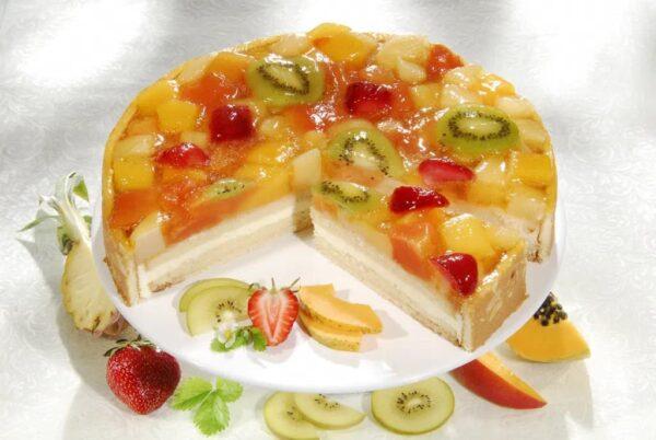 десерт ягодно творожный