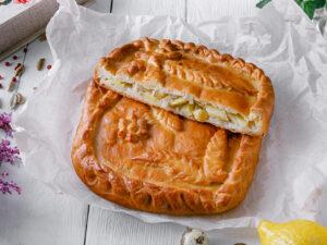 пирог с мясом картофелем